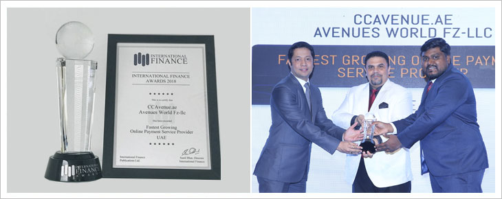 CCAvenue.ae Wins Prestigious FinTech Accolade at the International Finance Awardss