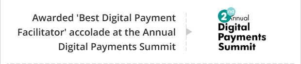 Awarded 'Best Digital Payment Facilitator' accolade at the Annual Digital Payments Summit