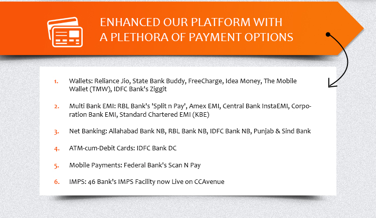 Enhanced Our Platform with a Plethora of Payment Options